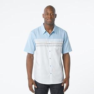 prAna Camino Short Sleeve Shirt - Men's Azure Large