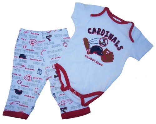 St. Louis Cardinals White Unisex 2 Piece Bodysuit And pants Infant Set 3 - 6 Months at Amazon.com