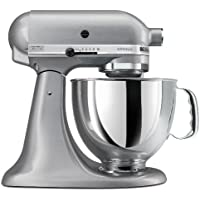 KitchenAid KSM150PS Artisan 5 Qt. Stand Mixer (Silver Metallic)