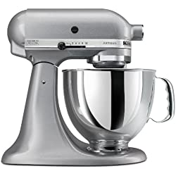 KitchenAid KSM150PS Artisan 5-Qt. 325W Stand Mixer - Silver Metallic