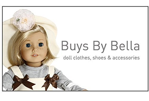 BUYS BY BELLA Red and White Barbie Sized Doll Gown with Small White Polka Dots Made to Fit ... - 1