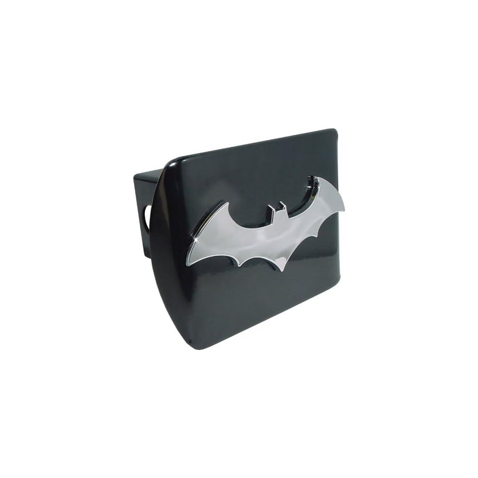 Batman Black and Chrome 3D Bat Emblem Metal Trailer Hitch Cover Fits 2 Inch Auto Car Truck Receiver