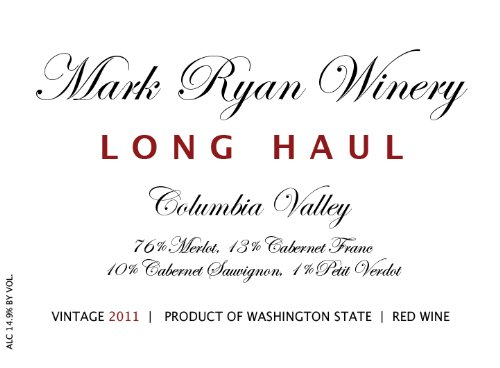 2011 Mark Ryan Winery Long Haul Red 750Ml