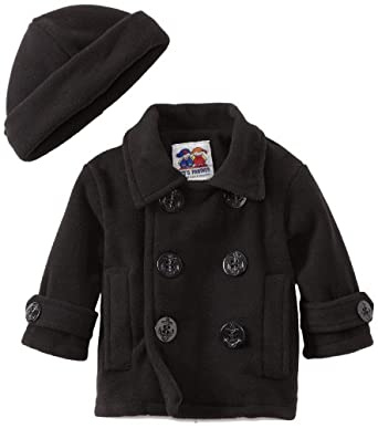 Good Lad Baby-Boys Infant Peacoat, Black, 12