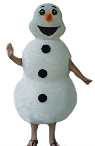 Mascots USA by CJs Huggables Custom Pro Low Cost Goofy Snowman Mascot Costume