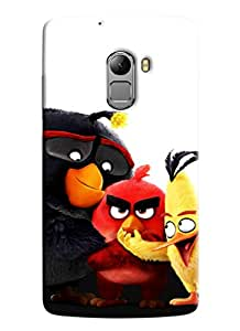 Clarks Angry Birds Hard Plastic Printed Back Cover Case For Lenovo K4 Note