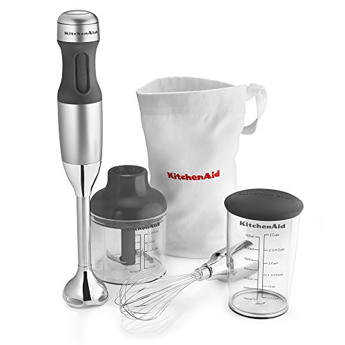 KitchenAid KHB2351CU 3-Speed Hand Blender – Contour Silver