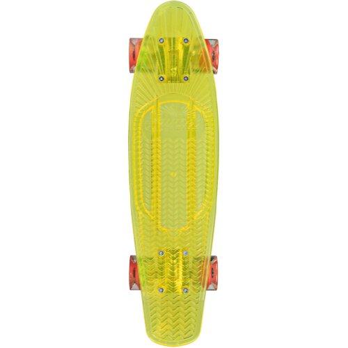 Sunset Construction Zone Complete Skateboard - Yellow Deck/Orange Led Wheels