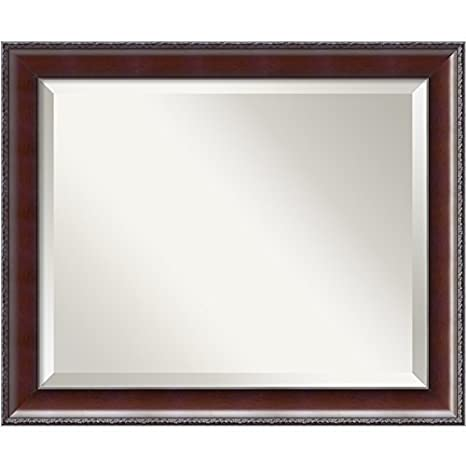 "Amanti Art 23"" x 19"" Country Walnut Wall Mirror, Medium by Amanti Art"