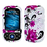 Samsung Strive A687 Cell Phone Red Flower on White Protective Case Faceplat ....