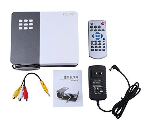 Crenova xpe350 mini portable projector 480 320 resolution for Compact projector for ipad