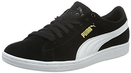 Puma Vikky, Scarpe da Ginnastica Basse Donna, Nero (Puma Black-Puma White 02), 40.5 EU