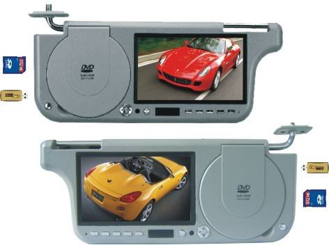 7 Inches Tft-Lcd Sun Visor Dvd Player One Pc