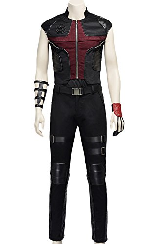 [Adult Halloween Deluxe 1:1 Hawkeye Costume Outfit Full Set (S)] (Hawkeye Avengers Deluxe Adult Costumes)
