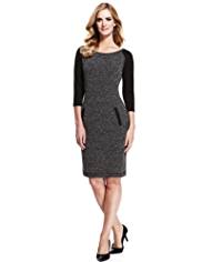M&S Collection Tunic Tweed Dress