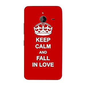 Skin4gadgets Keep Calm and FALL IN LOVE - Colour - Red Phone Skin for NOKIA LUMIA 635