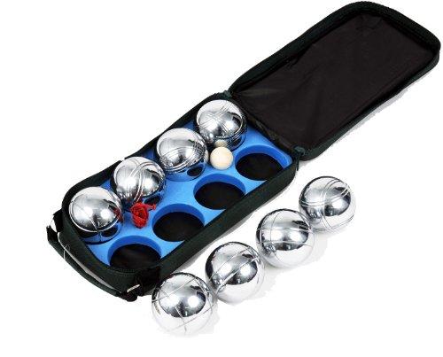 Traditional Garden Games - Juego de petancas con bolsa de lona (8 bolas, 73 mm)