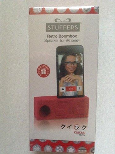 Stuffers Retro Boombox Speaker for iPhone