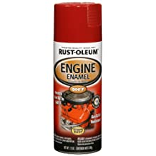 Rust-Oleum 248962 Automotive 12-Ounce 500 Degree Engine Enamel Spray Paint, Universal Red