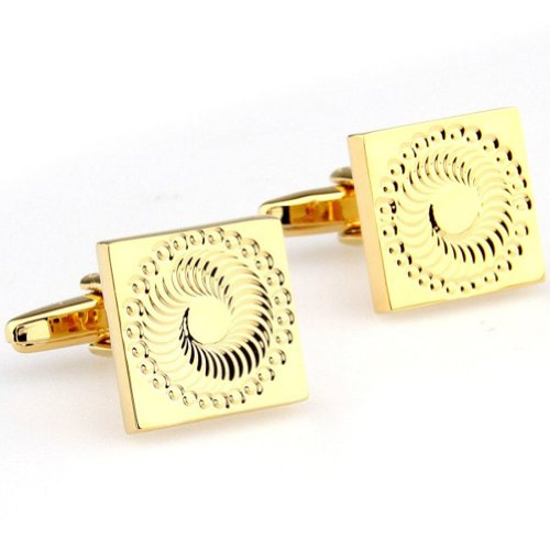 Beour White-gold-plated-silver Gold Square Copper Unusual Cufflinks