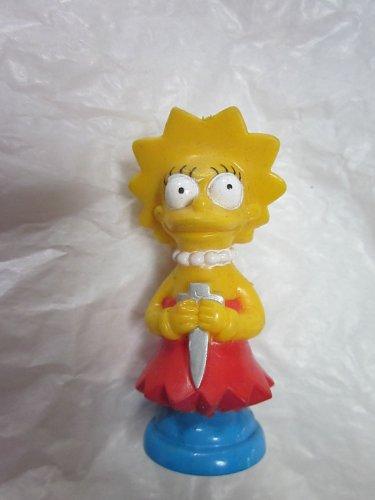 Simpsons 3-D Chess Set Piece: Lisa Blue Team Rook - 1
