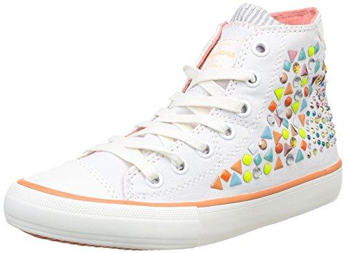 Pepe Jeans Industry Fantasy, Damen Sneaker  Weiß Blanc (800) 37