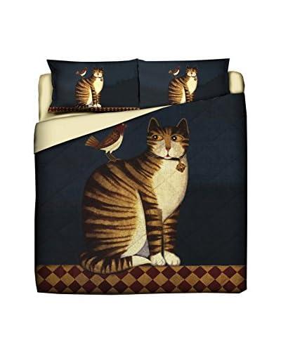 LITTLE FRIENDS by MANIFATTURE COTONIERE Edredón Tiger Cat