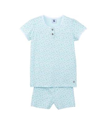 Petit Bateau - Ensemble de pyjama - À fleurs - Fille - Multicolore (Transparent/Multico) - FR: 4 ans (Taille fabricant: 4 ans)