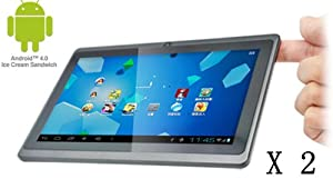 2X iRulu 7 Google Android 4.03 OS 5-point Capacitive Multi-Touchscreen