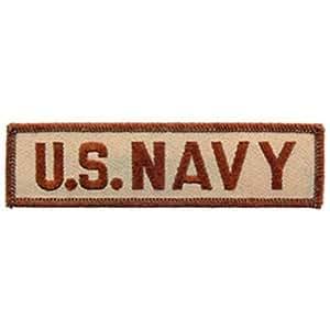 "U.S. Navy Patch Brown 1 1/4"" x 4 3/4"""