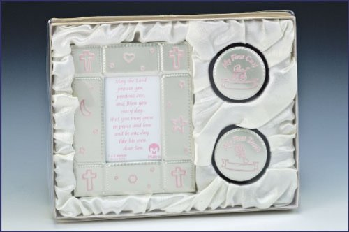 Baby Picture Frame and Keepsake Gift Box Set - Girl (Malhame 3324-6) - 1