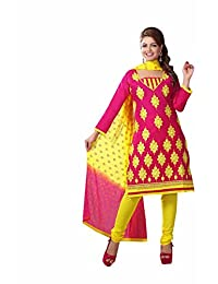 AASRI Party Wear Cotton Embroidered 3 Piece Unstitched Salwar Suit 6006