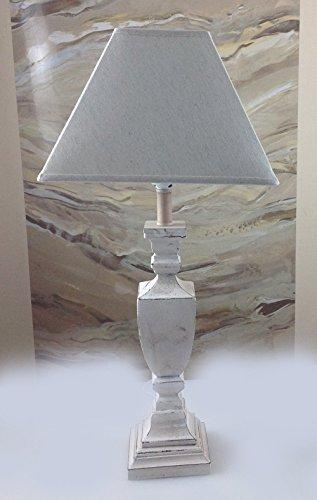 Charmanter-Landhaus-Tischleuchte-60-cm-Hohe-66-2-Holz-Nachttischlampen-Schreibtischleuchte-Schreibtischlampe-Broleuchte-Lampe-Antik-Retro-Leuchten-Stehleuchte