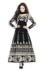 Nirali Women Georgette Dress Material (Vn 158 B Nriur _Black)