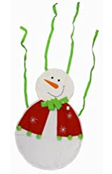 Merry Christmas Fancy Frosty the Snowman Apron - Christmas Apron - (Adult Size) Snowman Smock