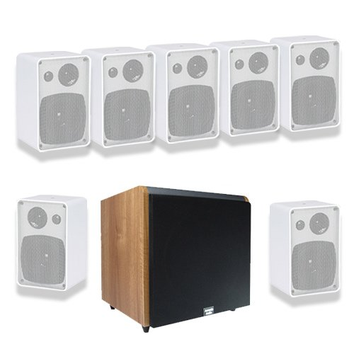 Acoustic Audio AW43W 7.1 Home Surround Speaker System w/Maple 10