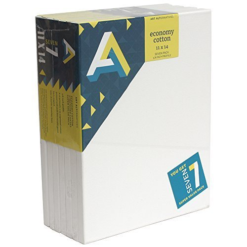 art-alternatives-economy-artist-white-canvas-super-value-pack-11-x-14-inches-pack-of-7