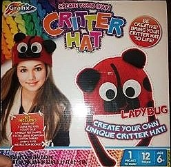CRITTER HAT - Create your own Critter HAT - LADY BUG