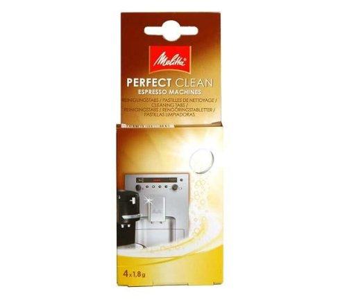 MELITTA Pastillas de limpieza de cafetera automática o de cápsulas- 4x1.8 gramos