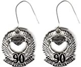 Harley Davidson ~ Harley Davidson 90th Anniversary Earrings!! ~ Rare Vintage ~ Made in the U.S.A.~ Approx 1 X .5
