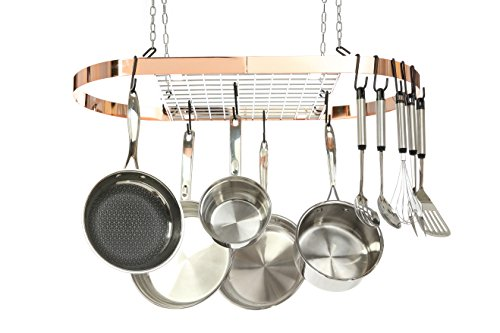 Kinetic GoGreen Classicor Wrought Iron Oval Pot Rack, Copper, One Size (Restaurant Size Cooking Pot compare prices)