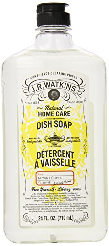 J.R. Watkins Natural Liquid Dish Soap, Lemon, 24 Ounce (Pack of 6) (Watkins Dish compare prices)