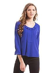 Prym Women's Body Blouse Shirt (1011518101_Cobalt _Small)