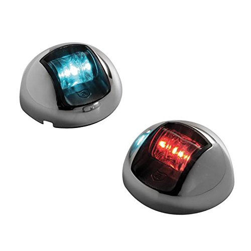 Attwood Led 1-Mile Vertical Mount Navigation Lights, Stainless Steel (Pair)
