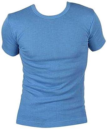 Mens Thermal Short Sleeve T shirts Vests Winter Ski Work White ...