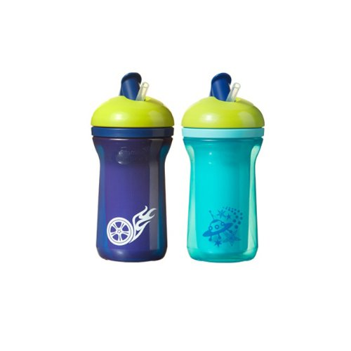 Tommee Tippee Explora Easiflow Insulated Boy Cup with Dura Straw BPA Free 9 Oz 2 Pack 12m Colors May Vary