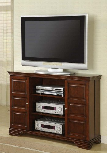 Cheap Plasma LCD TV Stand with Swing Doors in Dark Brown Finish (VF_AZ00-46746×30492)