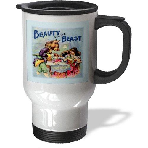 Tm_58489_1 Florene Childrens Art Ii - Antique Ad For Beauty N The Beast - Travel Mug - 14Oz Stainless Steel Travel Mug
