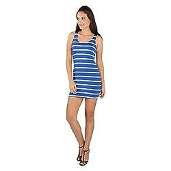 Tenn Women's Mini Dress (BLHS11NSXS_X-Large_Blue)