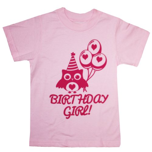 Happy Family I'M The Birthday Girl Cute Owl T-Shirt (18 Months, Pink)